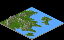 Greek Peninsula Minecraft Map & Project