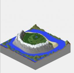 Mountain Range Island Minecraft Map & Project