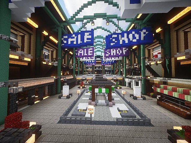 Malls Shopping Center Minecraft Collection