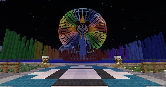 Disney california adventure resort full scale minecraft project mickeys fun wheel and world of color show gumiabroncs Image collections