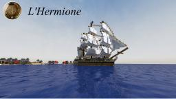 """L'Hermione"" French frigate Minecraft"