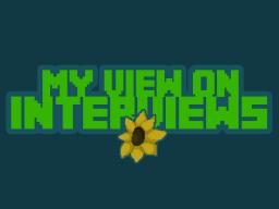 My View On Interviews Minecraft Blog Post