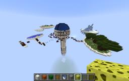 First ever self returning flying machine [MCPE] Minecraft