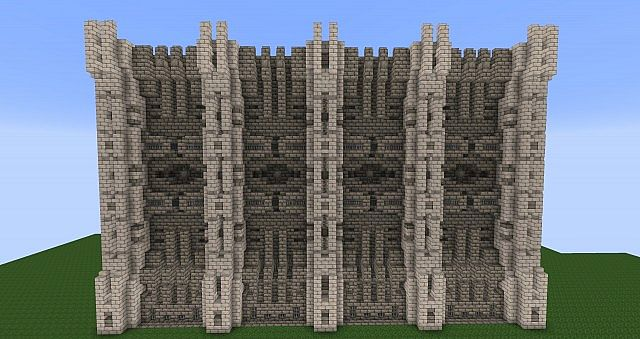Fortified Wall Design Now with corner piece Minecraft Project