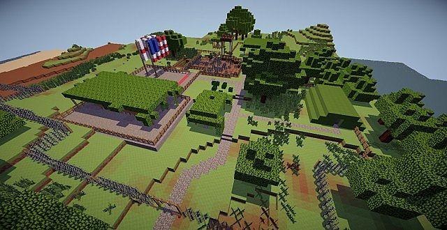 Omaha Beach  Minecraft Multiplayer custom map  DDay