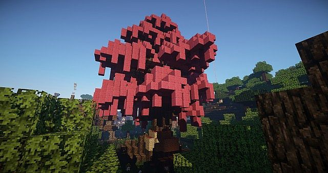 sakura tree - Minecraft Japanese Tree