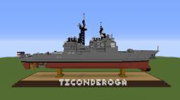 USS Ticonderoga- Cruiser Minecraft Map & Project