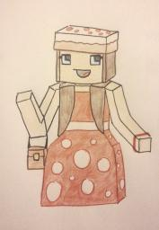 Minecraft skin fanart - Mushroom dress Minecraft Blog Post