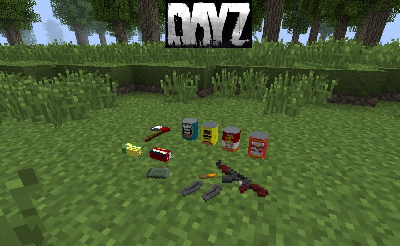Майнкрафт мод dayz 1.7.10