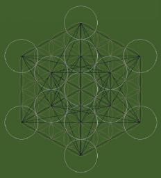 Flower of Life + Fruit of Life + Metatron's Cube