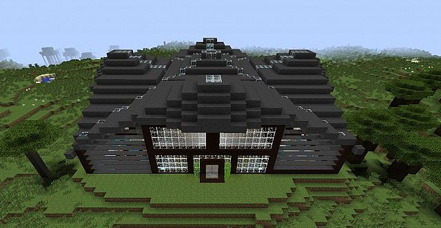 Zen house front aerial view