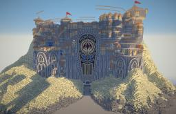 Crafti.ca WIP: Lindblum, Steampunk Mountain Fortress Minecraft Project