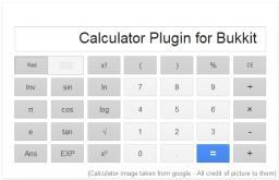[Plugin] Calculator Minecraft Mod