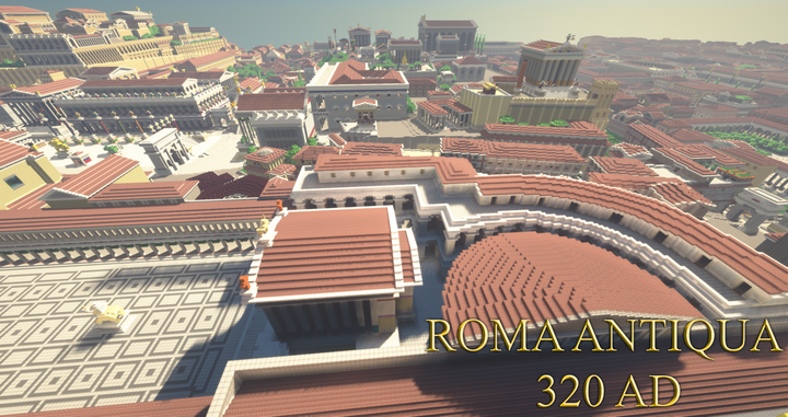 View of the Forum of Caesar, the Forum Romanum and the Capitoline Hill