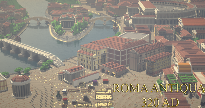 View of Forum Boarium and the Tiber Island