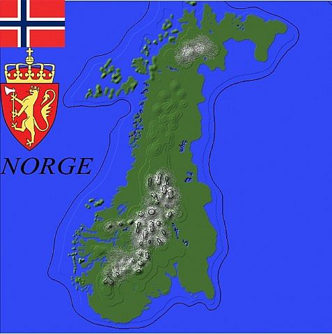 kart app norge Map of Norway/ Kart over Norge   Creative Mode   Minecraft: Java  kart app norge
