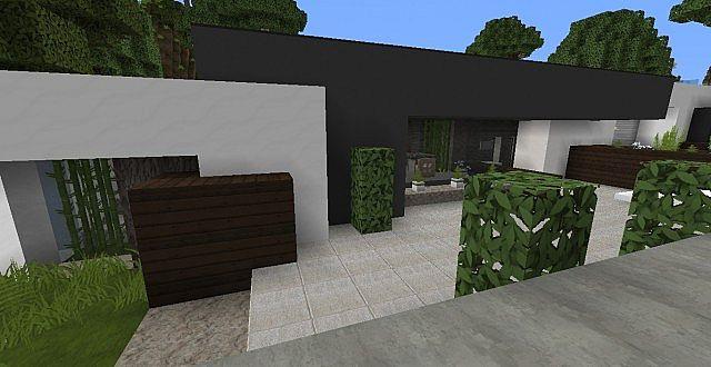 HD wallpapers minecraft maison moderne noxx