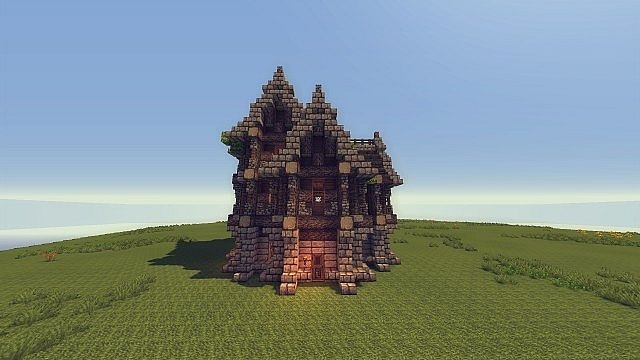 Medieval town house tutorial minecraft project for Classic house tutorial