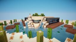 Modern Desert Island House Minecraft Map & Project