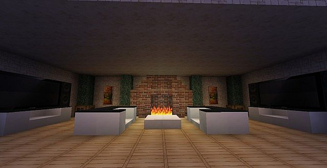 Minecraft Designs & Ideas - Fireplaces Minecraft Project