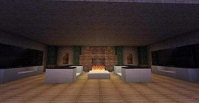 Minecraft Designs & Ideas - Fireplaces Minecraft Project