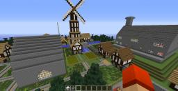 Medieval town plus manor house map Minecraft Map & Project