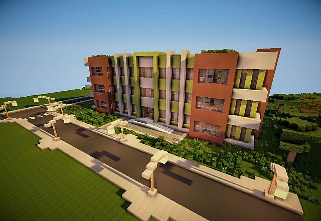 Epic Modern Apartment Building Minecraft Project