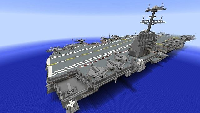 Aircraft Carrier Gerald R Ford Class Minecraft Project