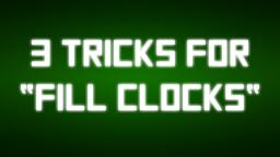 "3 Tricks for ""fill clocks"" Minecraft Blog Post"
