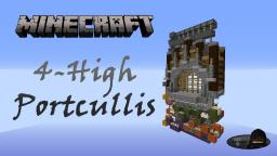 Minecraft: 4-High Portcullis (Gate) Minecraft Project