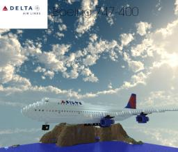 Boeing 747-400 Delta Minecraft Map & Project