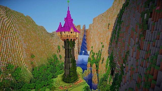 How To Build Tangled Tower Minecraft