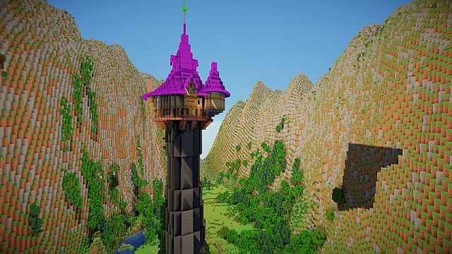 Tangled Rapunzel S Tower Minecraft Project