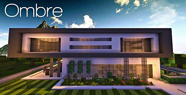 Ombre | A modern concept home | pop reel Minecraft Project