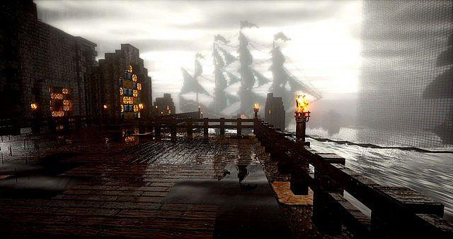 Server spawn including ship and portals!