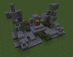 A set of decorative ruins. Minecraft