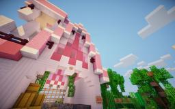 [Build] Pink Barn Minecraft Map & Project