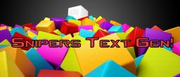 Snipers Text Gen: Make You Text Rainbow! Website HTML!