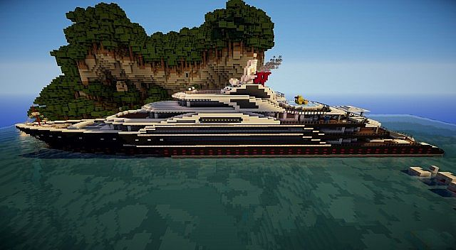 Serene Super Yacht Minecraft Project