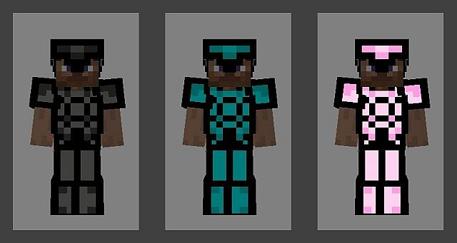 Black , Blue and Pink