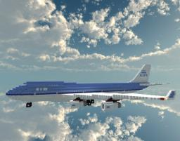 Boeing 747-400 KLM airlines Minecraft Map & Project