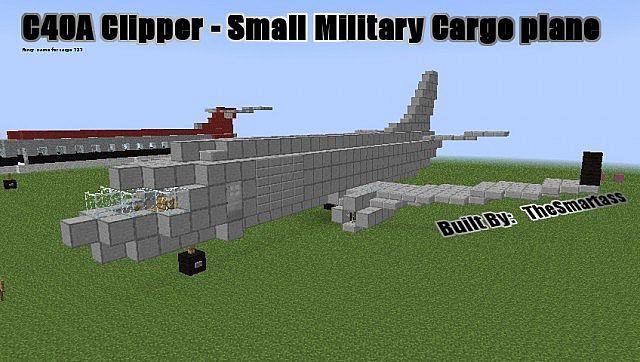 Boeing C40a Clipper Cargo Passenger Jet Minecraft Project
