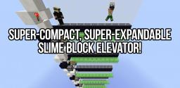 Super-Compact 4x2 Slime Block Elevator - Expandable! [Minecraft 1.8] Minecraft Map & Project