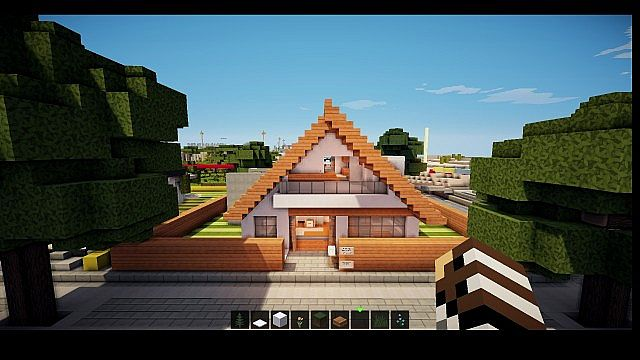 Modern house on world of keralis minecraft project for Casas modernas minecraft keralis