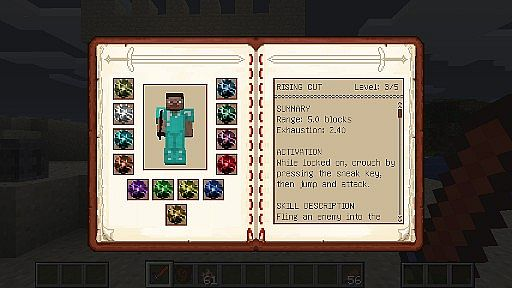 The Skill GUI conveniently displays all relevant information about your skills