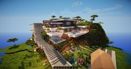 Mountain modern house Minecraft