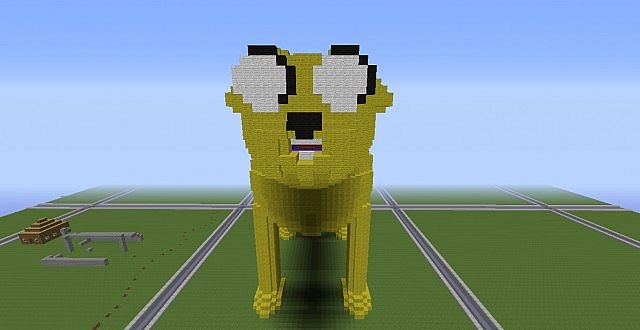 Minecraft Adventure Time Jake the Dog