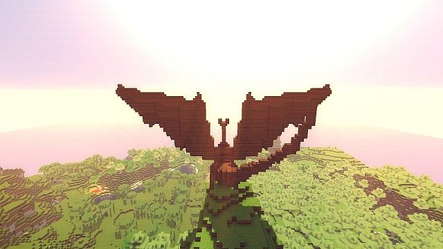 how to build a dragon minecraft