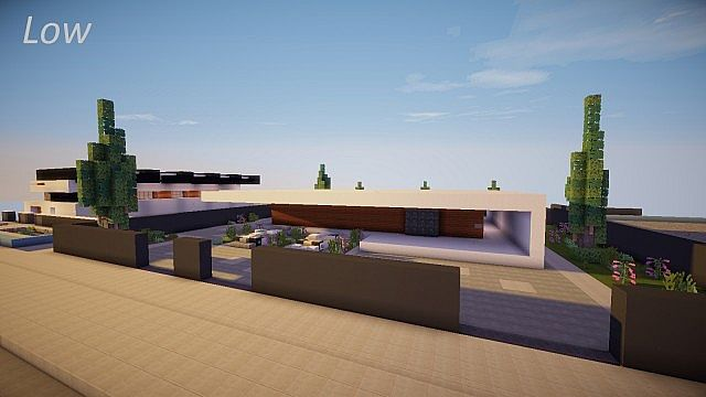 Low sleek modern house minecraft project Sleek homes that are unapologetically modern
