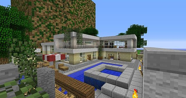 Modern Day Realistic House Minecraft Project